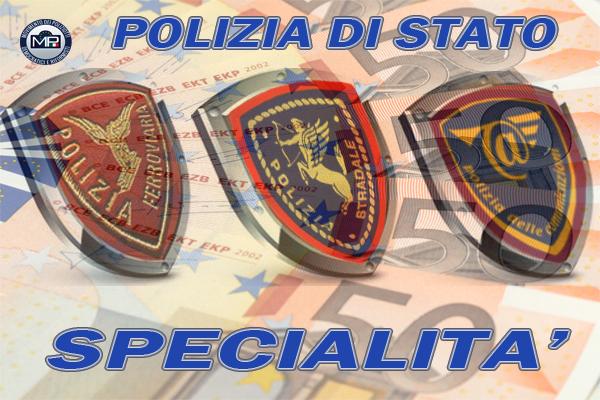 PAGAMENTI DELLE INDENNITÀ POLIZIA FERROVIARIA  -STRADALE E POSTALE