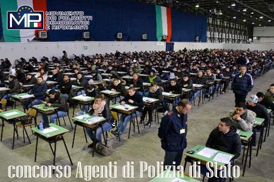 DECRETO PROVE SCRITTE CONCORSO 654 ALLIEVI AGENTI DELLA POLIZIA DI STATO