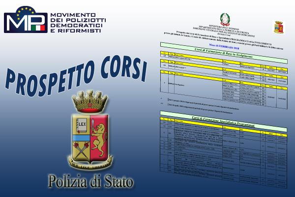 PROSPETTO CORSI POLIZIA DI STATO OTTOBRE 2020