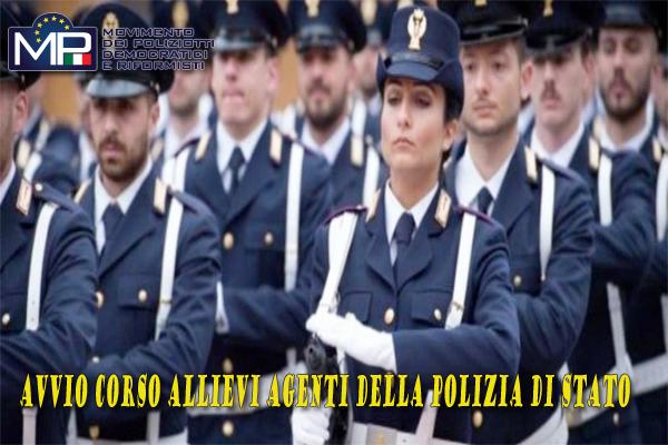 AVVIO 201° CORSO DI FORMAZIONE PER  ALLIEVI AGENTI DELLA POLIZIA DI STATO