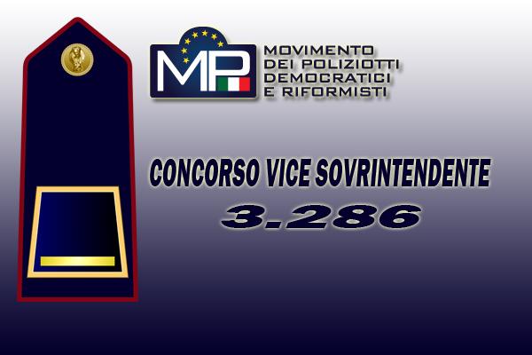 NEWS: GRADUATORIA CONCORSO INTERNO PER  3286 POSTI VICE SOVRINTENDENTE