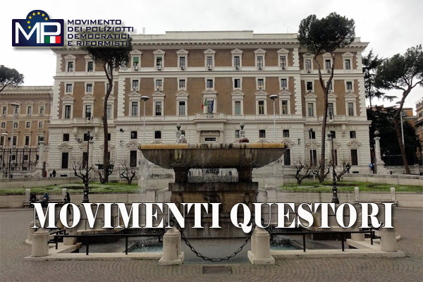 AGRIGENTO: CAMBIO AI VERTICE DELLA QUESTURA- COMUNICATO STAMPA M.P.