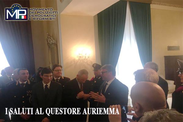 AGRIGENTO: COMMIATO DEL QUESTORE MAURIZIO AURIEMMA I SALUTI DI IMBRO' M.P.