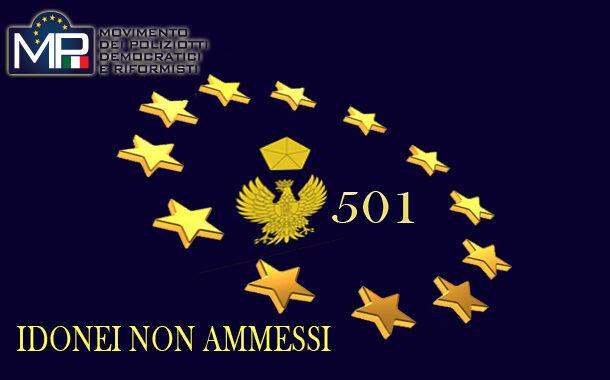 CONCORSO 501 VICE ISPETTORI M.P. NON DIMENTICA I 150 COLLEGHI IDONEI E NON VINCITORI