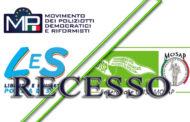 RECESSO DELL'O.S. LeS DALLA FEDERAZIONE COISP-CONSAP