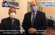 FSP-MP INCONTRA IL VICE MINISTRO AGLI INTERNI VITO CRIMI PER DISCUTERE SULL'IMMIGRAZIONE - CONTINUA IL NOSTRO IMPEGNO