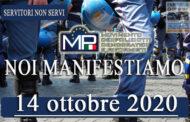 14 OTTOBRE 2020 MANIFESTAZIONE NAZIONALE A TUTELA DELLE FORZE DELL'ORDINE