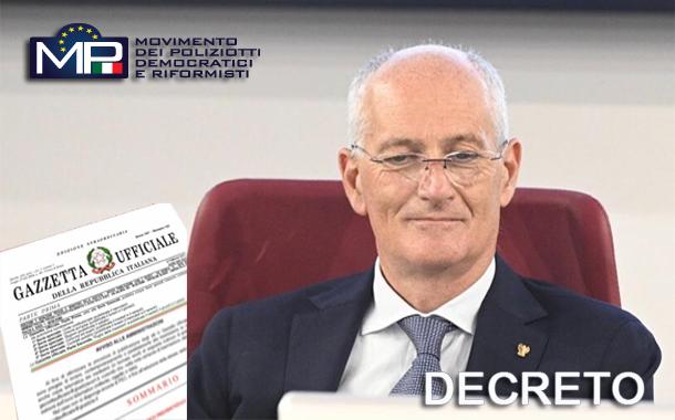 DECRETO CAPO DELLA POLIZIA ATTESTATO NASTRINO LUNGO CORSO SERVIZI DI O.P.