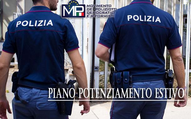 PIANO POTENZIAMENTO DEI SERVIZI DI VIGILANZA ESTIVA - ANNO 2021
